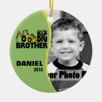 Big Brother Photo Ceramic Ornament