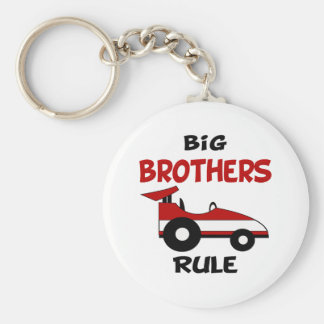 Big Brother Race Car Keychain