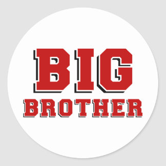 BIG Brother Round Stickers