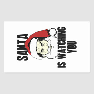 Big Brother Santa Claus Is Watching You Rectangular Stickers