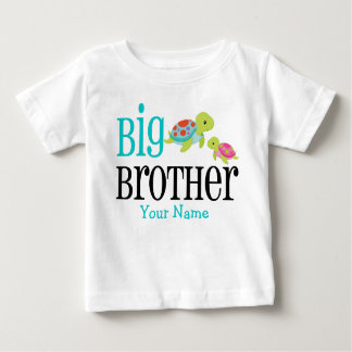 Big Brother Sea Turtles Personalized Baby T-Shirt