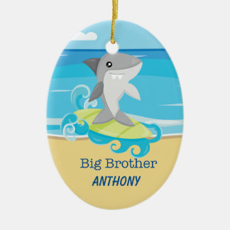 Big Brother Shark Surfing Ornament