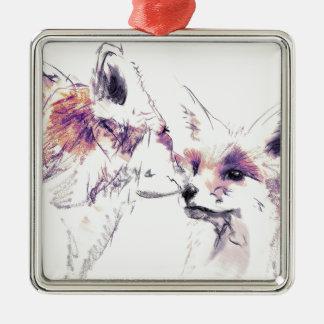 Big Brother Silver-Colored Square Ornament