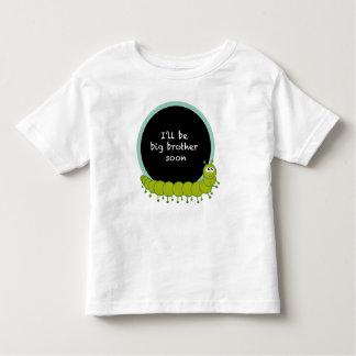 Big brother soon caterpillar t-shirt pour les tous petits