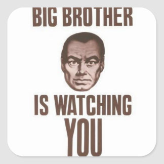 BIG BROTHER SQUARE STICKER