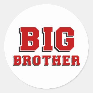 BIG Brother Round Stickers