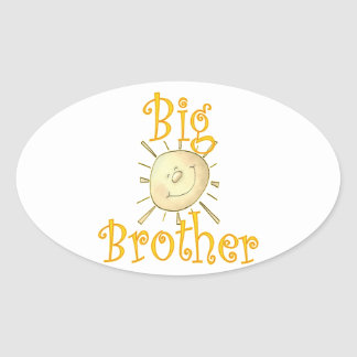 Big Brother Sunshine Smile Oval Stickers