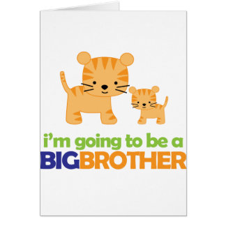 Big Brother Tiger T-shirt Pregnancy Announcement Greeting Card