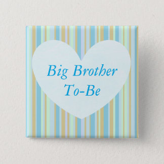 Big Brother to be Blue Baby Shower Button