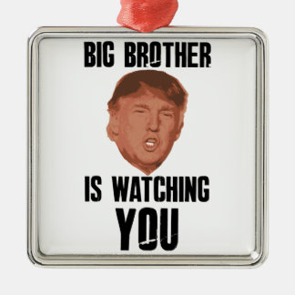 Big Brother Trump Metal Ornament