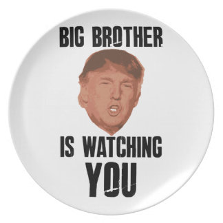 Big Brother Trump Plate
