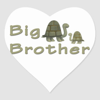 Big Brother Turtles Heart Sticker