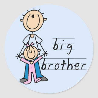 Big Brother with Baby Sister Tshirts and Gifts Sticker