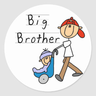 Big Brother With Little Brother Round Sticker