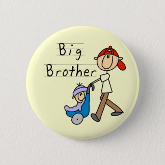 Big Brother with Little Brother Tshirts and Gifts 2 Inch Round Button