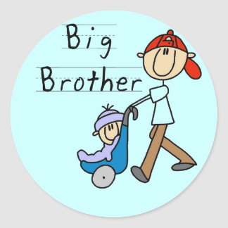 Big Brother with Little Brother Tshirts and Gifts Sticker