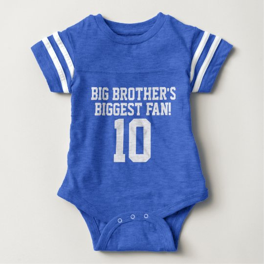Big Brother's Biggest Fan! Baby Football Bodysuit