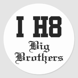 big brothers round sticker