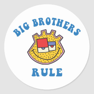 Big Brothers Rule Round Sticker