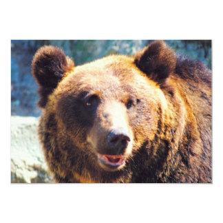 "Big Brown Bear 5"" X 7"" Invitation Card"