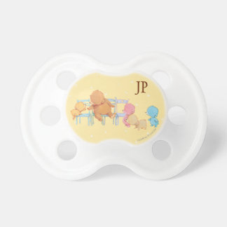 Big Brown Bear & Friends Share Four Chairs Baby Pacifier