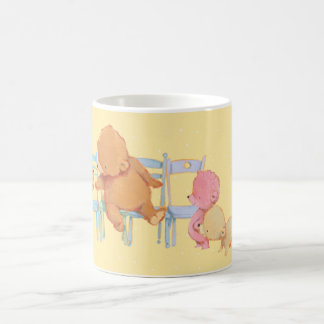 Big Brown Bear & Friends Share Four Chairs Coffee Mug