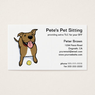 Big Brown Dog Pet Sitting Business Card