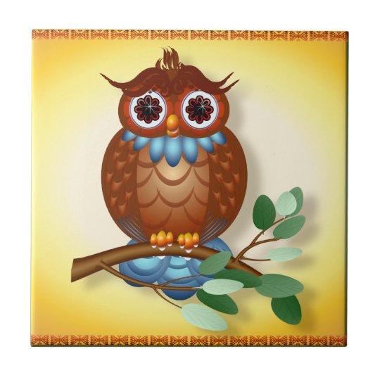 Big Brown Owl Tiles-Trivets Tile