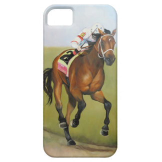 Big Brown Rsce Horse Oil Painting iPhone 5 Cases