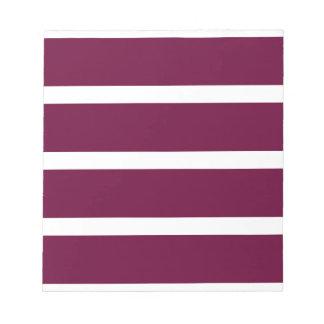 Big Brown Stripe Notepad