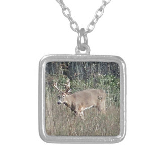 Big buck by james potvin silver plated necklace
