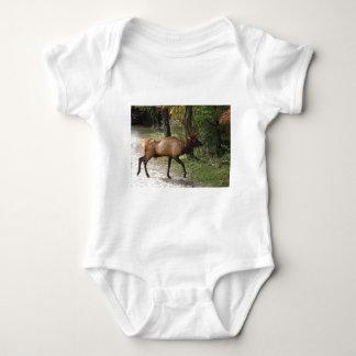 Big Bull Elk with Large Antler Baby Bodysuit