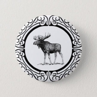 big bull moose art 2 inch round button