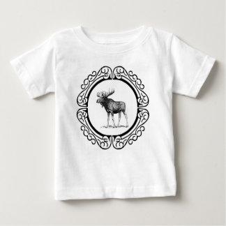 big bull moose art baby T-Shirt