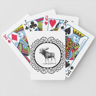 big bull moose art bicycle playing cards