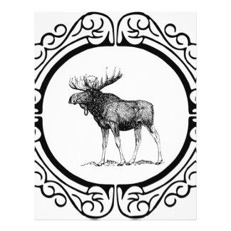 big bull moose art letterhead