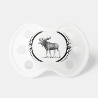 big bull moose art pacifier