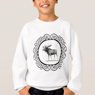 big bull moose art sweatshirt