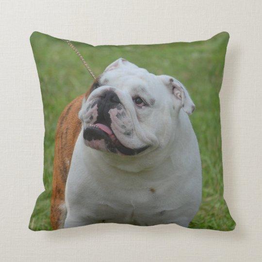 Big Bulldog Throw Pillow