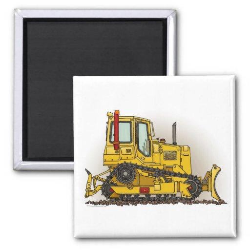 Big Bulldozer Dozer Square Magnet