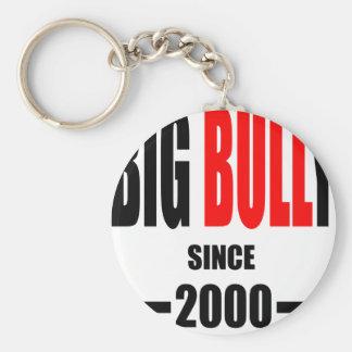 BIG BULLY school since 2000 back learn homework te Basic Round Button Keychain