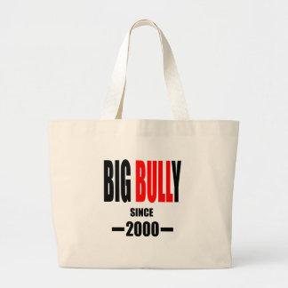 BIG BULLY school since 2000 back learn homework te Large Tote Bag