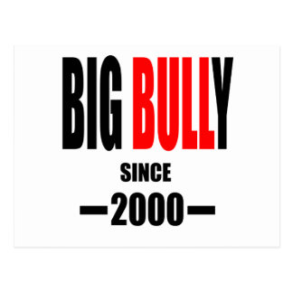 BIG BULLY school since 2000 back learn homework te Postcard
