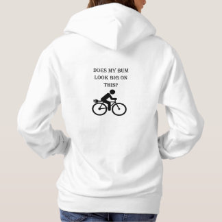 """Big bum"" cycling hoodies for women"
