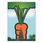 Big Bunneh Carrot Card