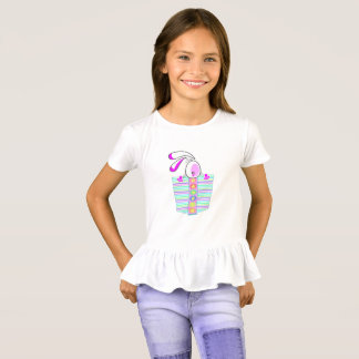 Big Bunny Pastel Colored Easter Pocket T-Shirt