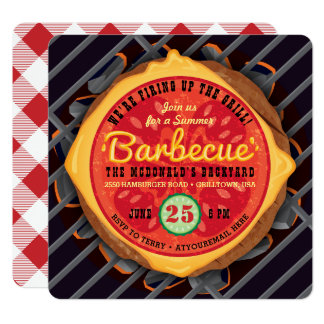 Big Burger Barbecue Invitation