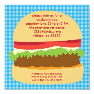 Big Burger BBQ Invitation