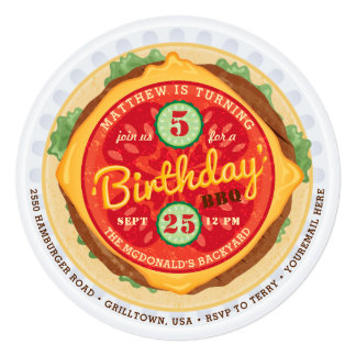 Big Burger Birthday Invitation
