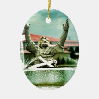 Big Butter Jesus  Touchdown Jesus Ceramic Ornament